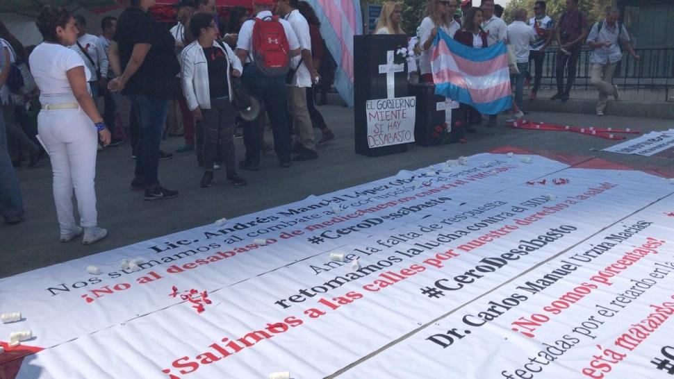 FOTO Pacientes con VIH cierran Reforma por falta de medicamentos (Noticieros Televisa 2 mayo 2019 cdmx)