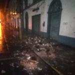 Foto: Captura de la cuenta de Twitter @bomberosPE que muestra los daños ocasionados por el sismo en Perú, 26 mayo 2019