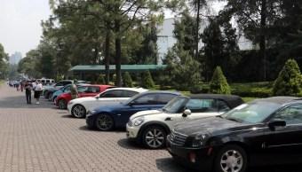Foto: Subastan en Los Pinos 82 vehículos asegurados por la FGR, mayo 26 de 2019 (Imagen: Twitter @assesorvirtual)