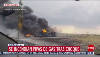 Foto: Choque Pipas Gas Galeana Nuevo León 24 Mayo 2019