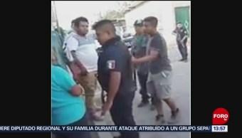 Foto: Policías en estado de ebriedad encañonan a una familia
