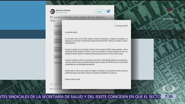 Postura de Emiliano Salinas en caso NXIVM
