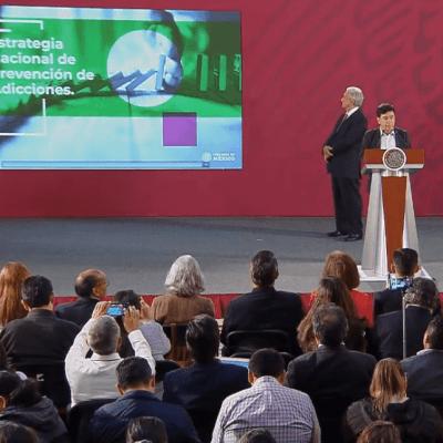 Presidencia: En México hay 2.2 millones de consumidores de sustancias adictivas