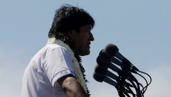 Foto: El presidente boliviano Evo Morales habla en un acto de campaña en Chimore, en la región del Chapare, mayo 18 de 2019 (Reuters)