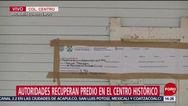 Foto: Procuraduría capitalina recupera inmueble robado