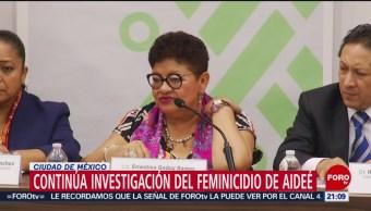 Foto: Procuraduría CDMX Investigación Feminicidio Aideé CCH Oriente 20 Mayo 2019