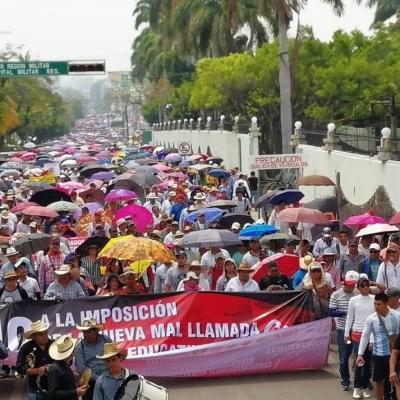 Movilizaciones de CNTE en Chiapas y Oaxaca; acuerdan paro de 72 horas