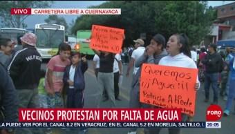 Foto: Bloqueo Carretera Libre Cuernavaca 21 Mayo 2019