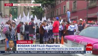 FOTO: Protestan en Donceles, piden recursos para Tláhuac