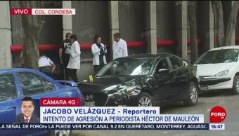 Foto: Realizan peritajes en la Condesa tras intento de agresión a Héctor de Mauleón