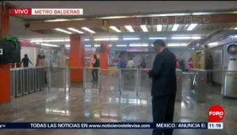 Reanudan servicio del Metro CDMX en Balderas tras presencia de humo