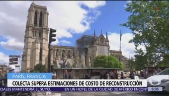 Reúnen mil 200 mdd para reconstruir Notre Dame