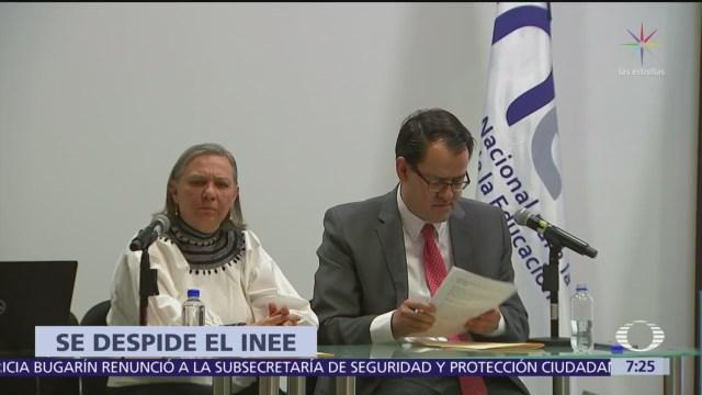 Se despide el INEE, tras promulgar la nueva reforma educativa