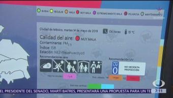 Se registra muy mala calidad del aire en Nezahualcóyolt, Edomex