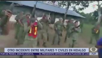 Se registra otro incidente entre militares y civiles en Hidalgo