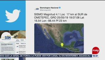 FOTO: Se registra sismo de magnitud 4.1 en Ometepec, Guerrerom 25 MAYO 2019