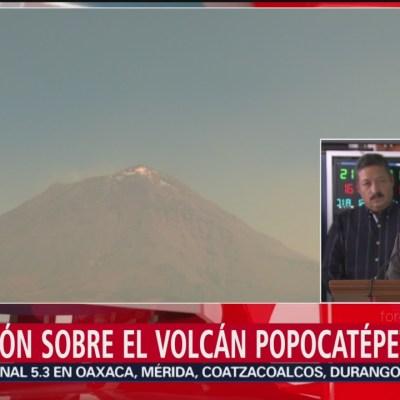 Situación sobre el volcán Popocatépetl