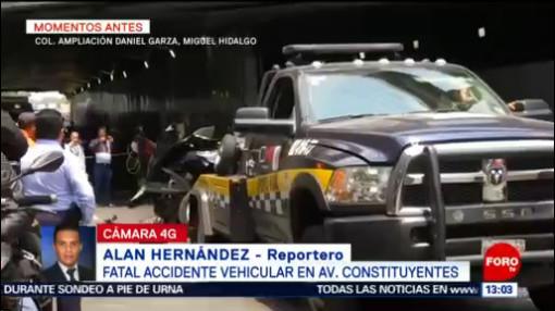 FOTO: Suman 4 muertos por choque en Periférico y Constituyentes, 25 MAYO 2019