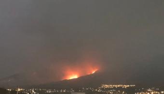 FOTO Suspenden clases en Chilpancingo por incendio forestal en El Calvario (CONAFOR)