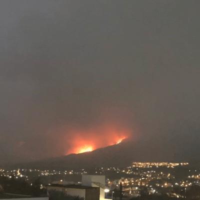 Suspenden clases en Chilpancingo por incendio forestal