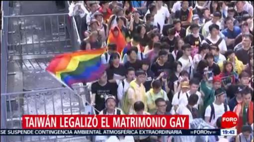 FOTO: Taiwán legalizó el matrimonio gay, 18 MAYO 2019