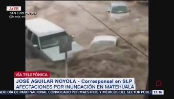 FOTO: Temen brote de enfermedades tras inundaciones en Matehuala, SLP