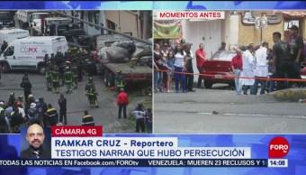 FOTO: Testigos narran que hubo persecución de tráiler en Santa Fe, 26 MAYO 2019