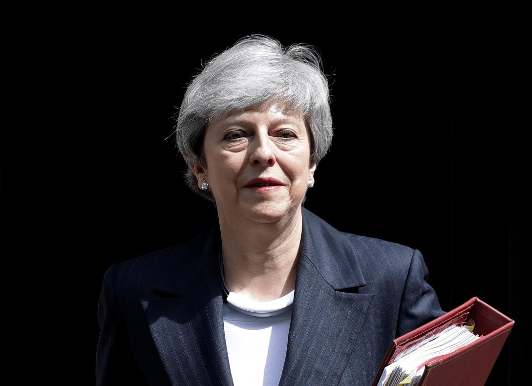 Foto: Theresa May, primera ministra británica, 22 de mayo de 2019, Londres