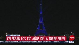 Foto: Torre Eiffel Celebra 130 Años París 15 de Mayo 2019