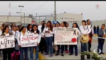 Foto: Trabajadores Penal De Morelos Protestan Muerte Custodios 13 de Mayo 2019