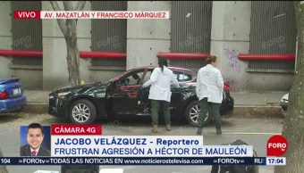 Foto: Tres personas intentan agredir a Héctor de Mauleón