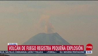 FOTO: Volcán de Fuego registra pequeña explosión en Colima, 11 MAYO 2019