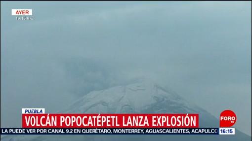 FOTO: Volcán Popocatépetl lanza explosión en Puebla, 4 MAYO 2019