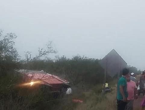 Foto: Vuelca autobús de pasajeros en Tamaulipas, 15 de mayo de 2019, México