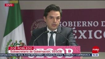 FOTO: Zoé Robledo reconoce esfuerzo de Germán Martínez