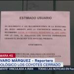 Foto: Zoológico de Los Coyotes, cerrado por contingencia ambiental