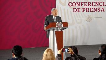 Foto: Andrés Manuel López Obrador en conferencia de prensa., 4 de junio de 2019, Ciudad de México