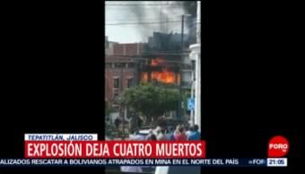 FOTO: 4 muertos deja una explosión por acumulación de gas en Tepatitlán, Jalisco, 16 Junio 2019