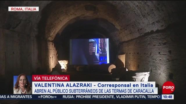 FOTO: Abren al público los subterráneos de las Termas de Caracalla, 22 Junio 2019