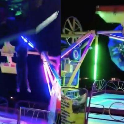 Video: Joven cae de juego mecánico en Ciudad Juárez