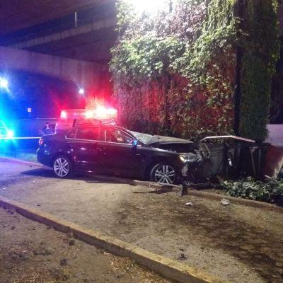 Se registran 2 accidentes aparatosos la madrugada del sábado en CDMX