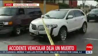 FOTO: Accidente vehicular deja un muerto en Naucalpan, Edomex, 15 Junio 2019