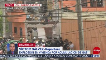 Acordonan zona tras explosión de gas en Iztacalco