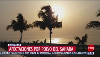 FOTO: Afectaciones por polvo del Sahara en Campeche