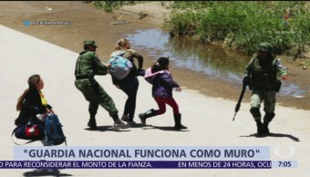 AFP publica imágenes de Guardia Nacional deteniendo a migrantes