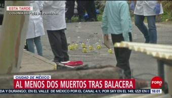 FOTO: Agentes policiacos buscan a sospechosos de balacera en Tlalpan