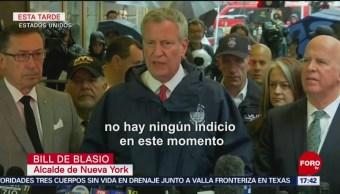 FOTO: Alcalde de Nueva York descarta amenaza terrorista