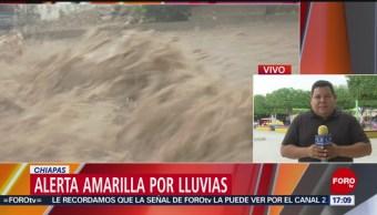 FOTO: Alerta amarilla por lluvias en Chiapas
