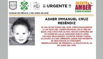 Foto Alerta Amber para localiza a Asher Immanuel Cruz Reséndiz 3 junio 2019