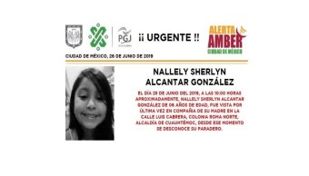 Foto Alerta Amber para Nallely Sherlyn Alcantar González 26 junio 2019